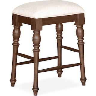 Charleston Counter-Height Backless Stool - Tobacco