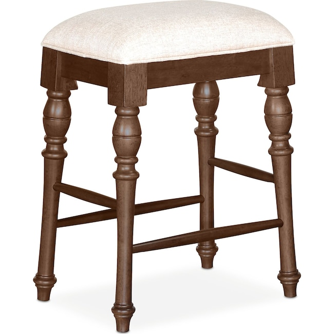 Dining Room Furniture - Charleston Counter-Height Backless Stool - Tobacco