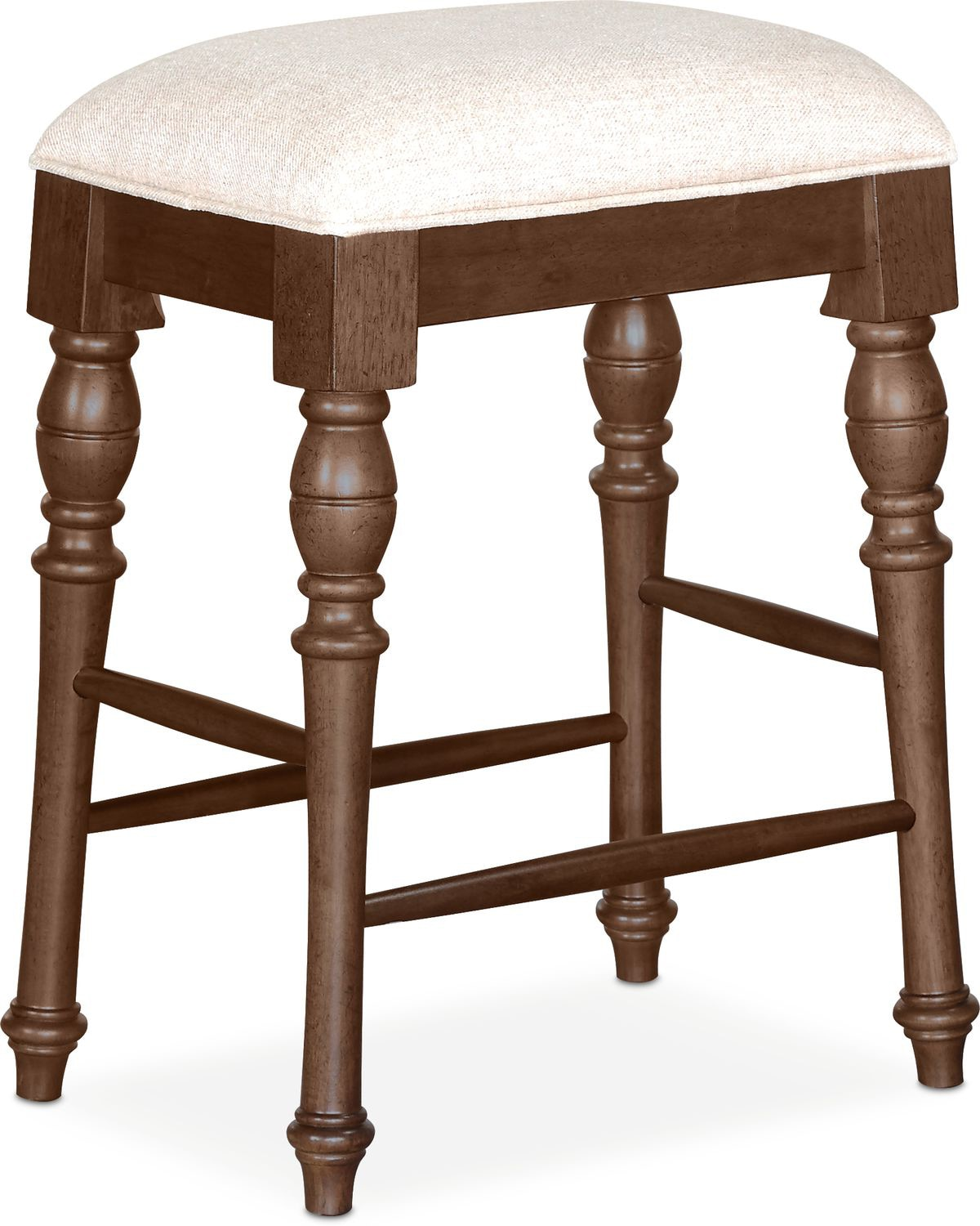 Charleston Counter Height Backless Stool   Tobacco
