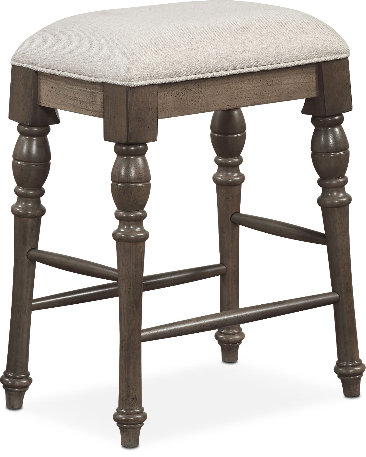 Charleston Counter Height Backless Stool Gray Value