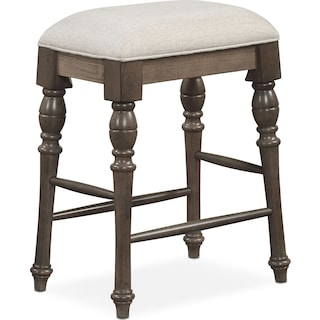 Charleston Counter-Height Backless Stool - Gray