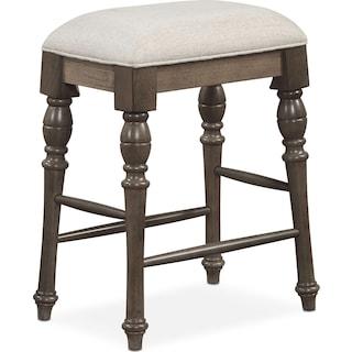 Charleston Counter-Height Backless Stool - Gray