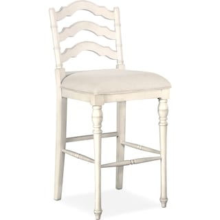 Charleston Barstool - White