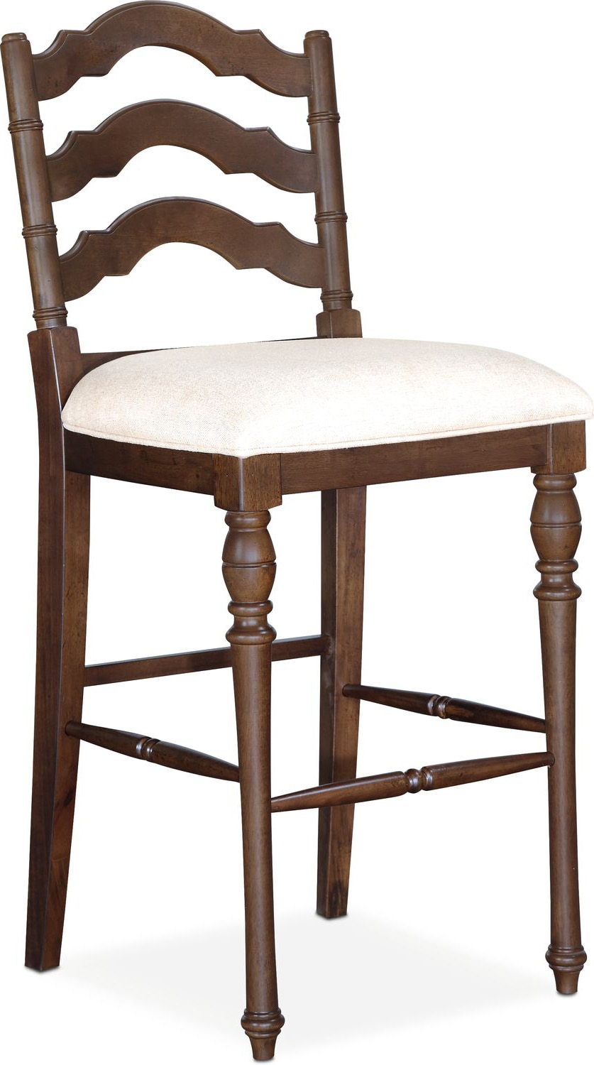 Great Charleston Barstool   Tobacco