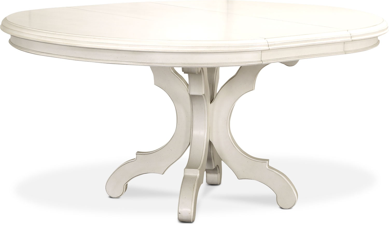 Ordinaire Charleston Round Dining Table   White