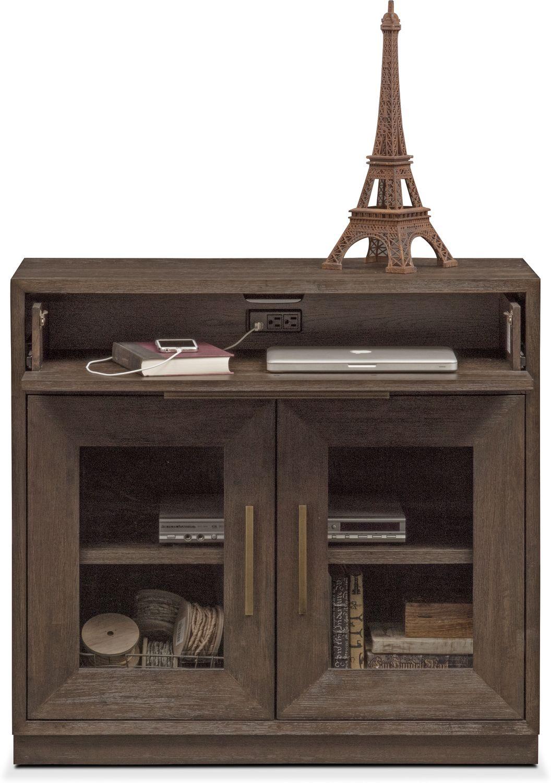 Malibu Drop Drawer Cabinet Umber Value City Furniture