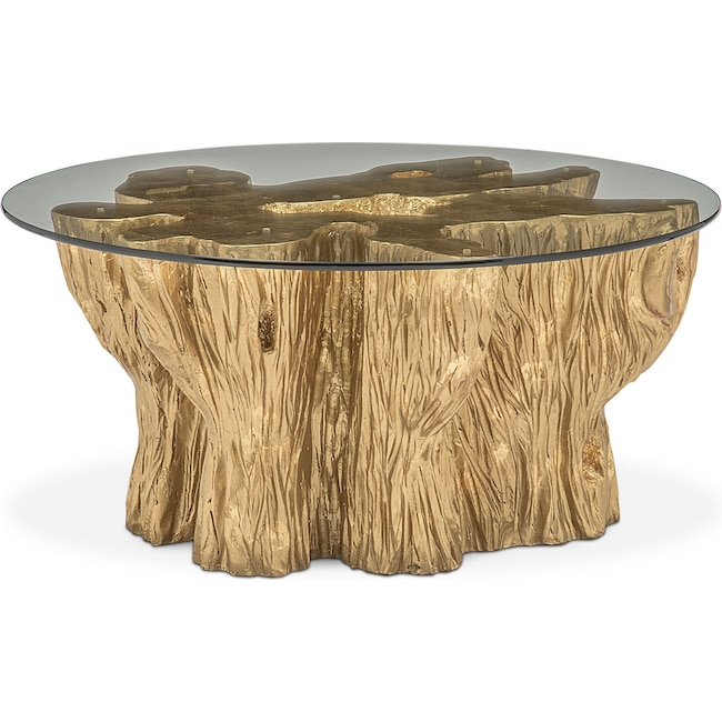 Art Van Coffee Table Sets: Natura Cocktail Table - Gold