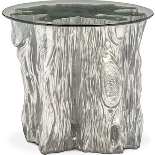 Natura End Table - Silver