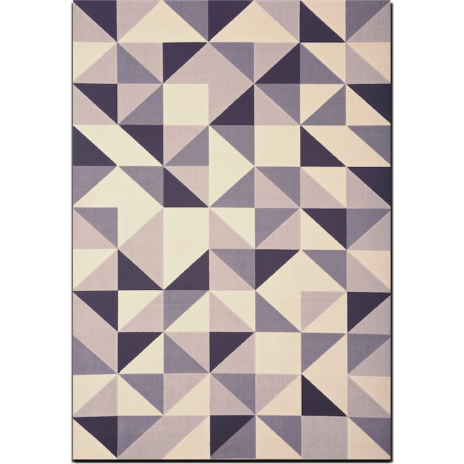 Rugs - Broadway 8' x 10' Area Rug - Gray, Ivory and Black