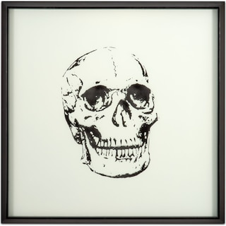 Skull Framed Print - Black