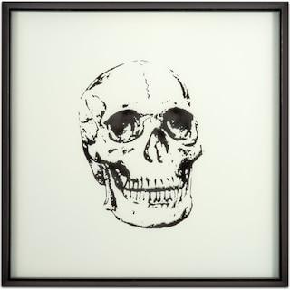 Skull Framed Print - Black