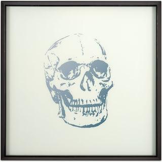 Skull Framed Print - Silver