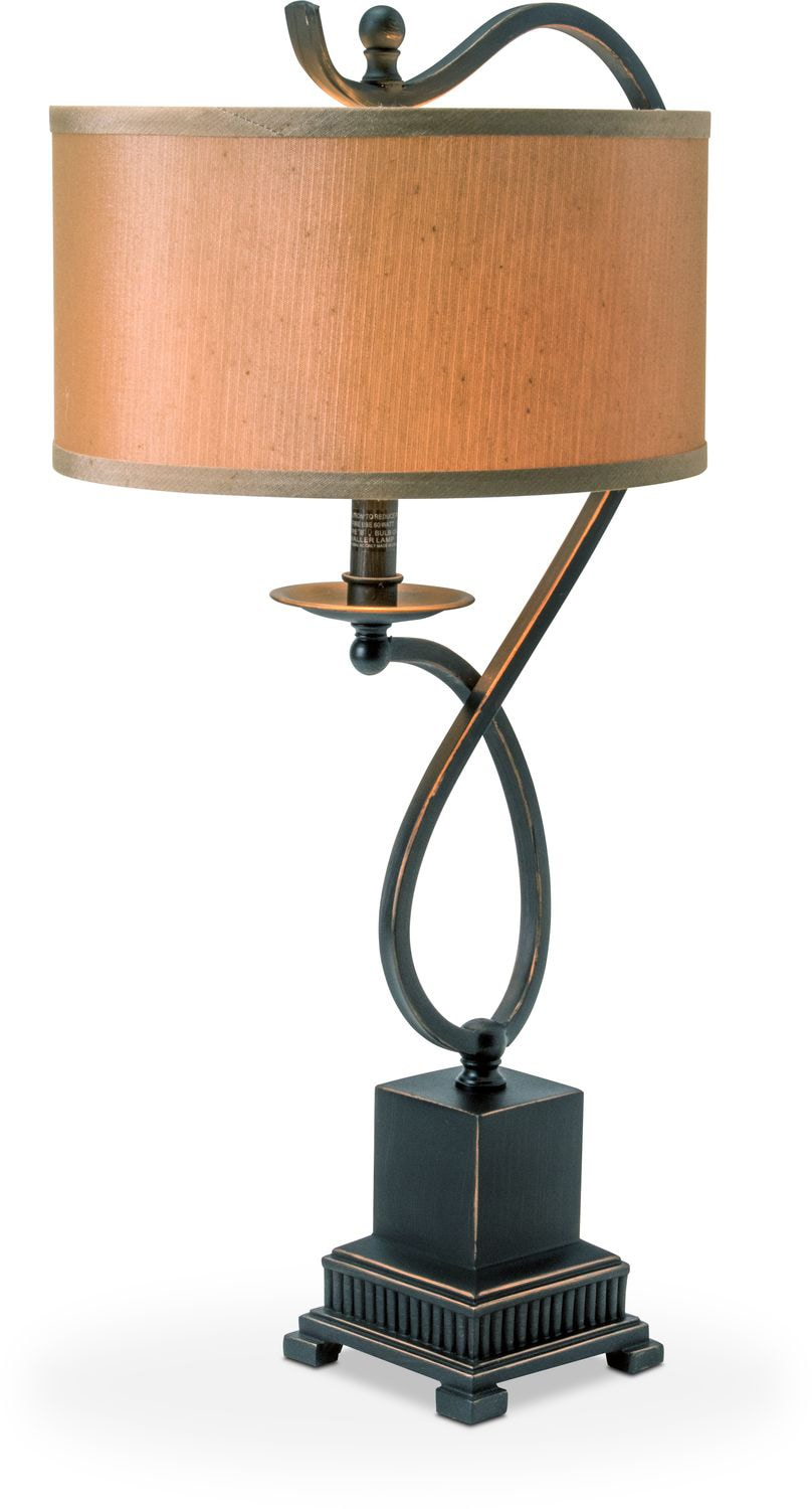 Home Accessories   Curved Bronze Table Lamp