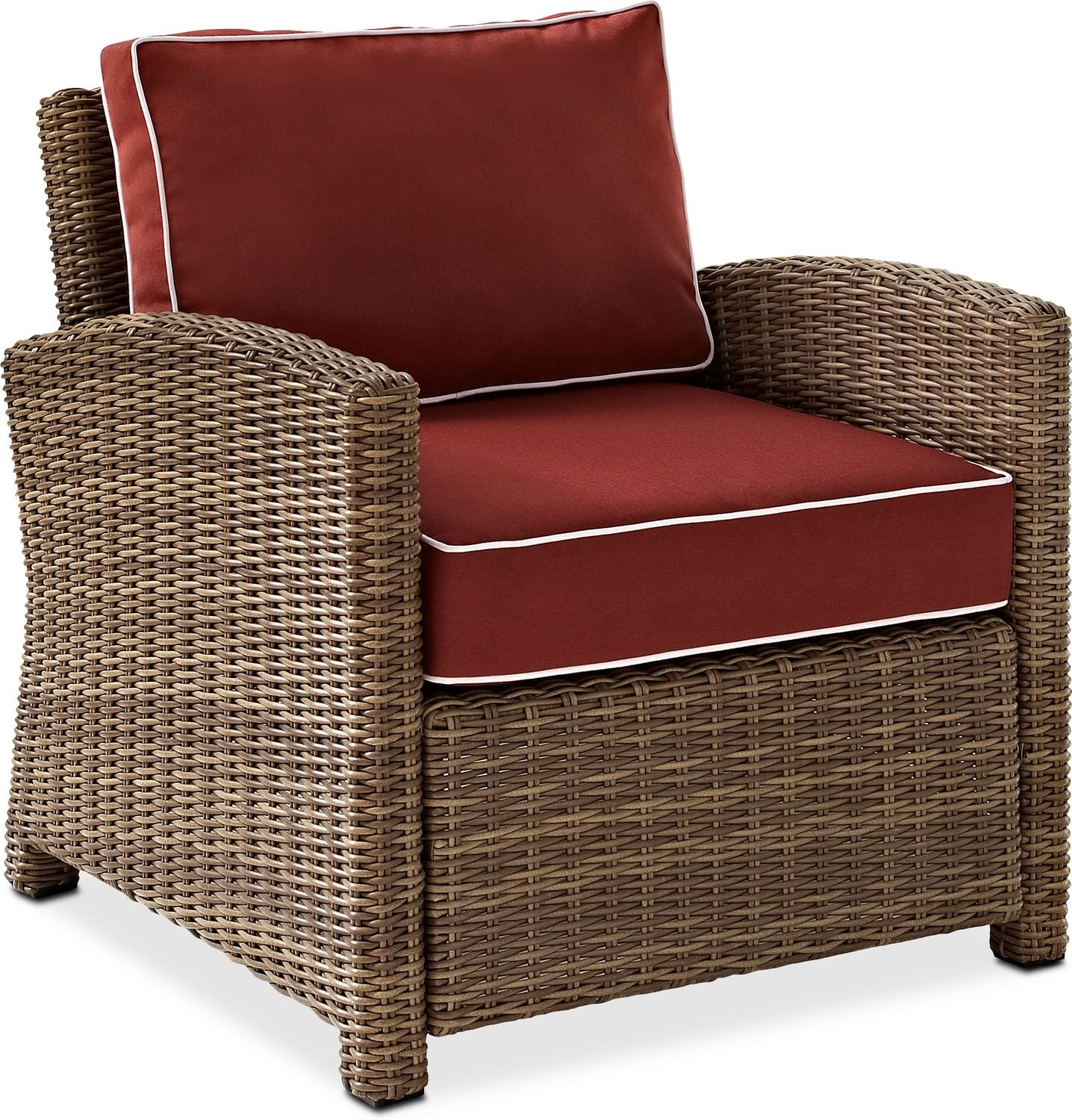 Destin Outdoor Sofa 2 Chairs Cocktail Table and End Table Set