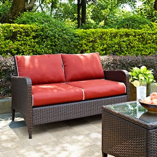 Corona Outdoor Loveseat - Sangria