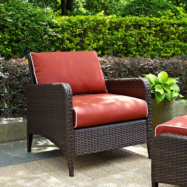 Corona Outdoor Chair - Sangria - Corona Outdoor Chair - Sangria Value City Furniture And Mattresses