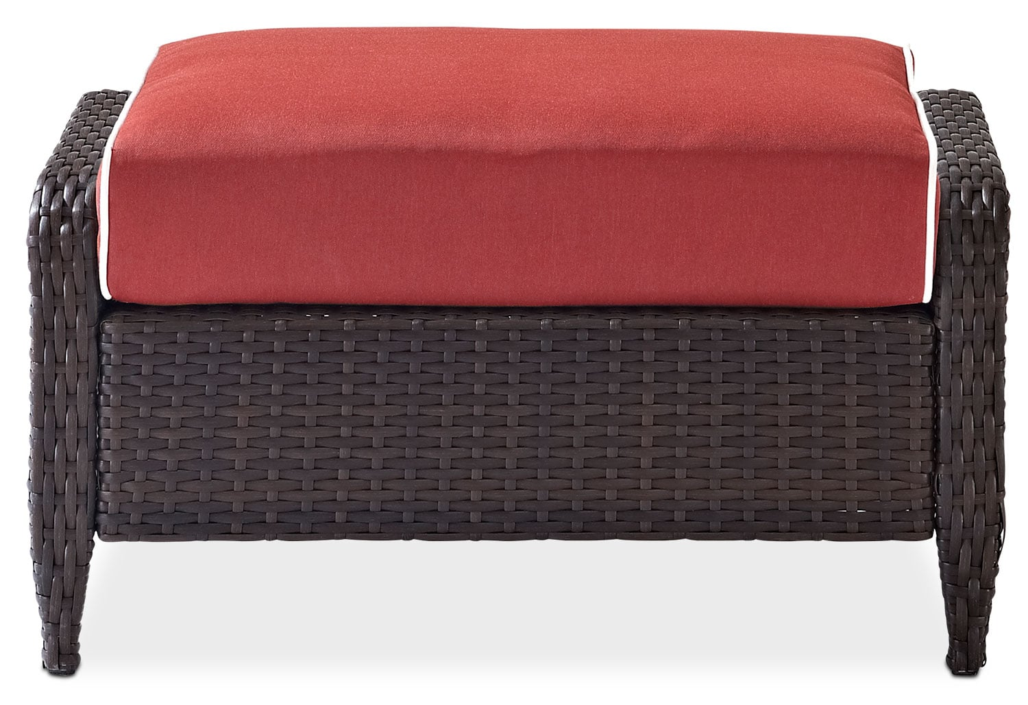Corona Outdoor Ottoman Sangria Value City Furniture And Mattresses