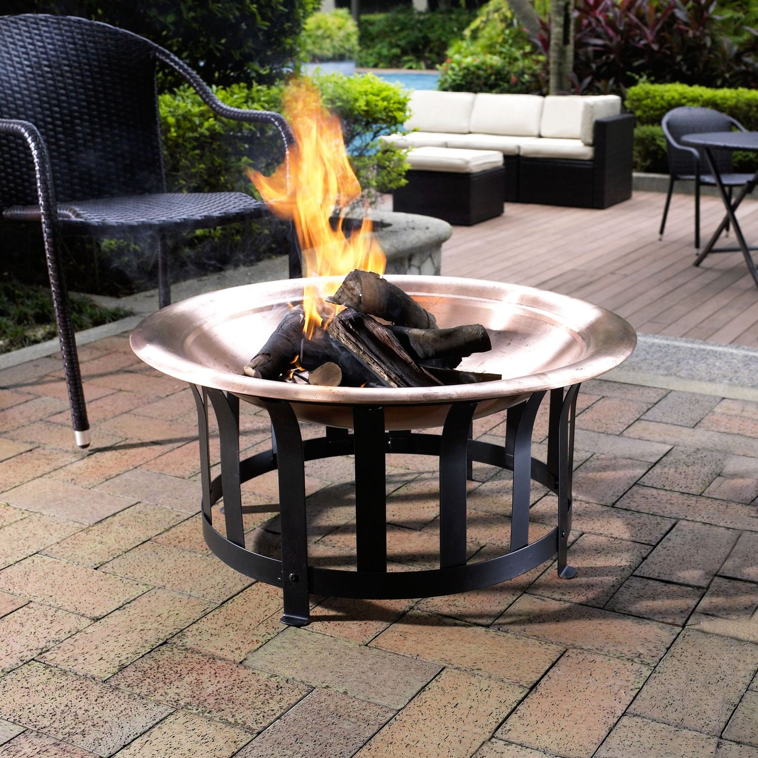 Outdoor Furniture - Dexter Fire Pit - Copper