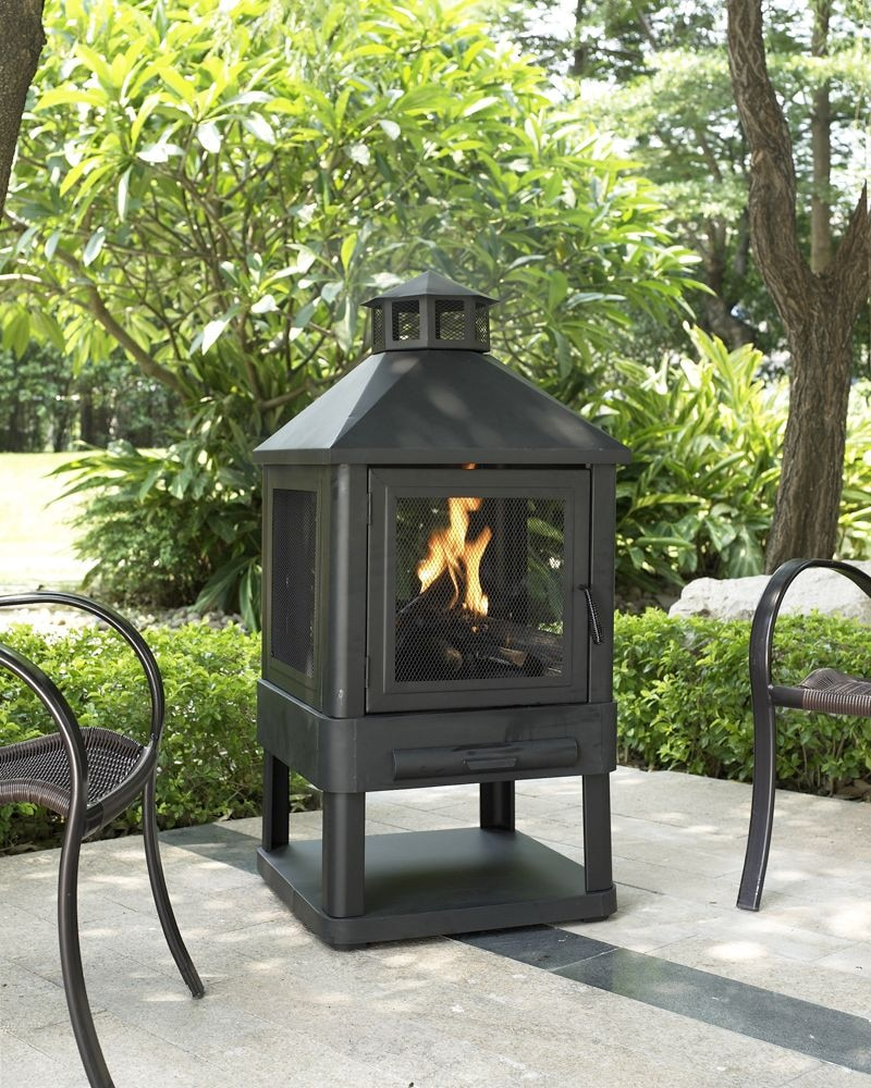 Outdoor Furniture - Atlas Fire Pit - Black