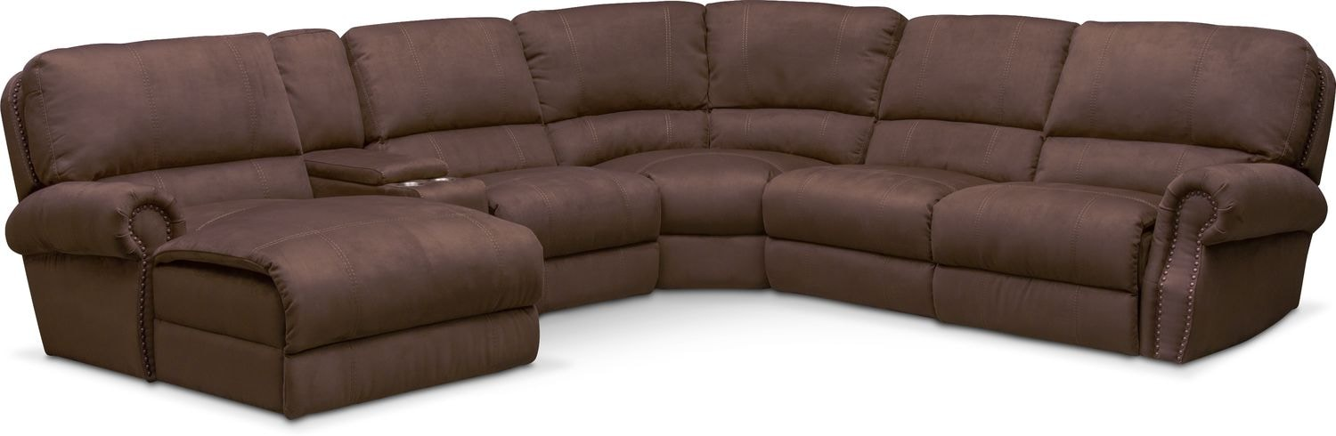 Dartmouth 6-Piece Power Reclining Sectional w/ Left-Facing Chaise and 1 Reclining  sc 1 st  Value City Furniture & Sectional Sofas | Value City Furniture | Value City Furniture islam-shia.org