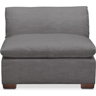 Plush Armless Chair- in Hugo Graphite