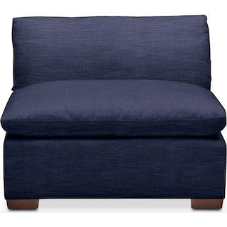 Plush Armless Chair- in Oakley III Ink