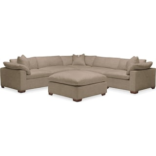 Plush 6 Pc. Sectional- in Statley L Mondo