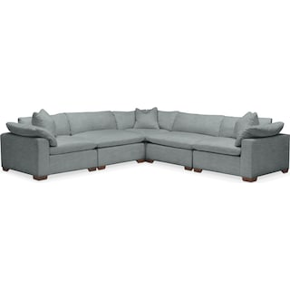 Plush 5 Pc. Sectional- in Abington TW Seven Seas