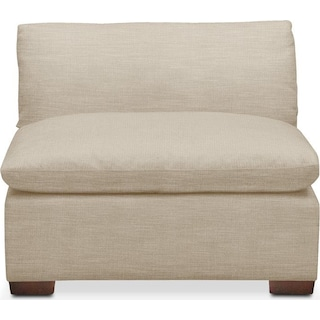 Plush Armless Chair- in Depalma Taupe