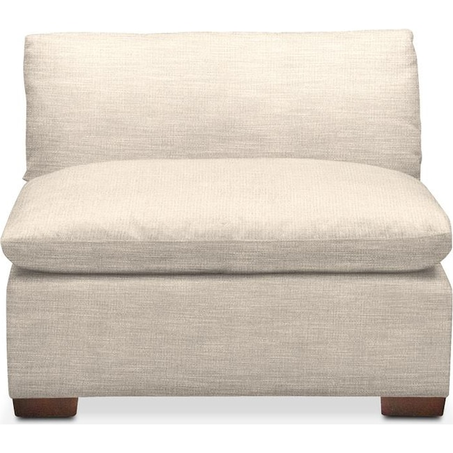 Living Room Furniture - Plush Armless Chair- in Curious Pearl