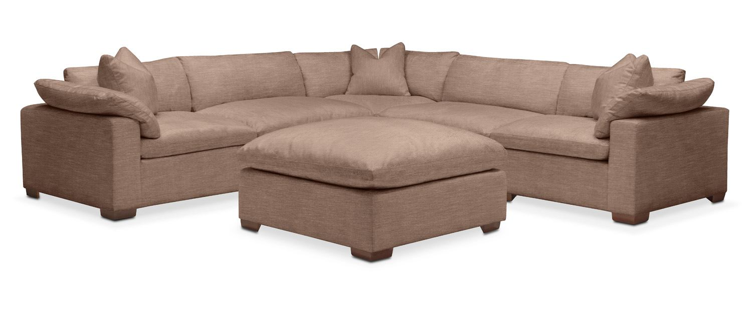 plush 6 pc sectional in abington tw antler