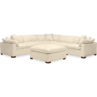 Plush 6 Pc. Sectional- in Anders Cloud