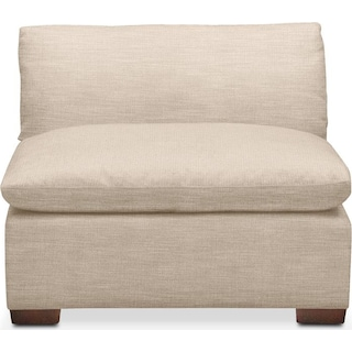 Plush Armless Chair- in Dudley Buff