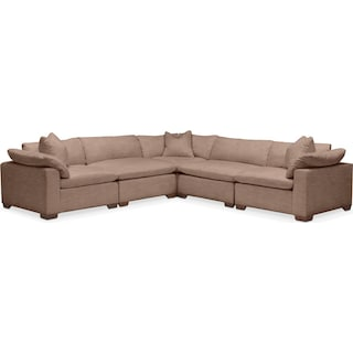 Plush 5 Pc. Sectional- in Abington TW Antler
