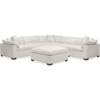 Plush 6 Pc. Sectional- in Anders Ivory