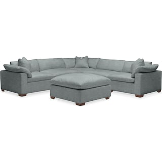 Plush 6 Pc. Sectional- in Abington TW Seven Seas