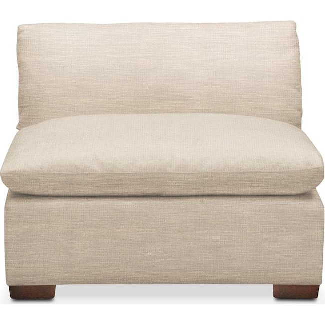 Living Room Furniture - Plush Armless Chair- in Victory Ivory