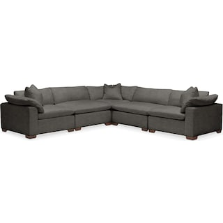 Plush 5 Pc. Sectional- in Statley L Sterling