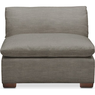 Plush Armless Chair- in Victory Smoke