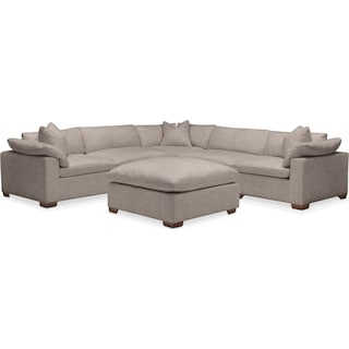 Plush 6 Pc. Sectional- in Abington TW Fog