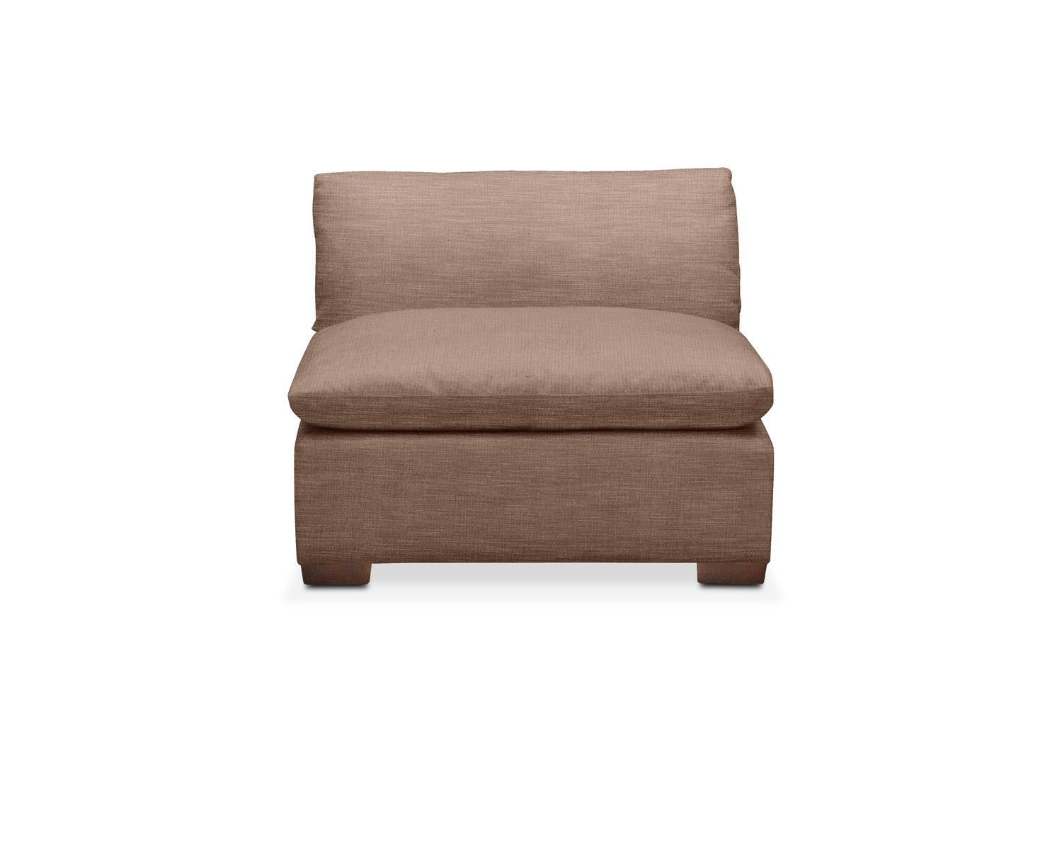Living Room Furniture - Plush Armless Chair