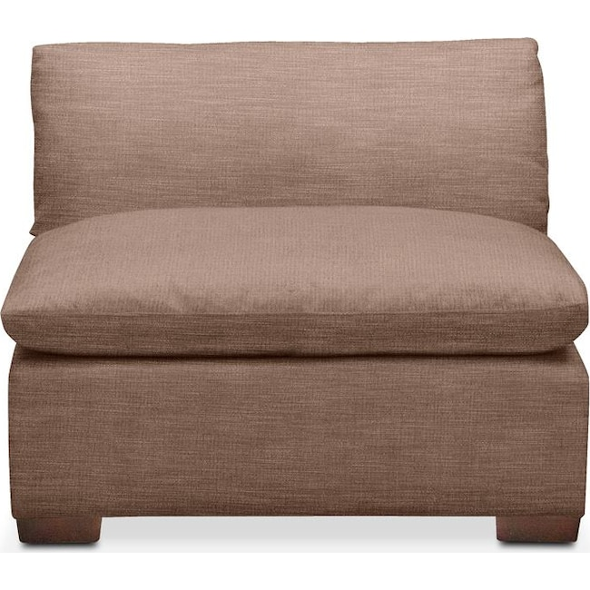 Living Room Furniture - Plush Armless Chair- in Abington TW Antler