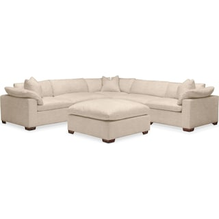 Plush 6 Pc. Sectional- in Dudley Buff