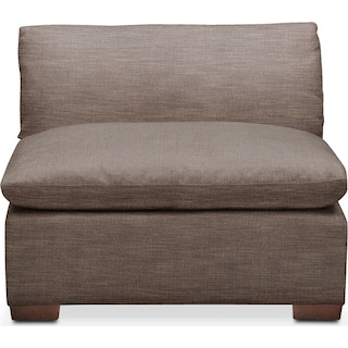 Plush Armless Chair- in Hugo Mocha