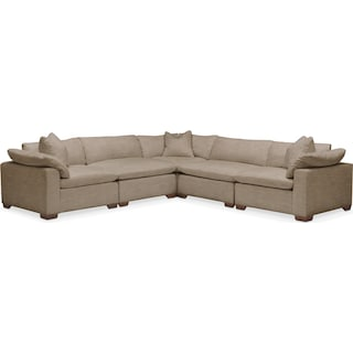 Plush 5 Pc. Sectional- in Statley L Mondo