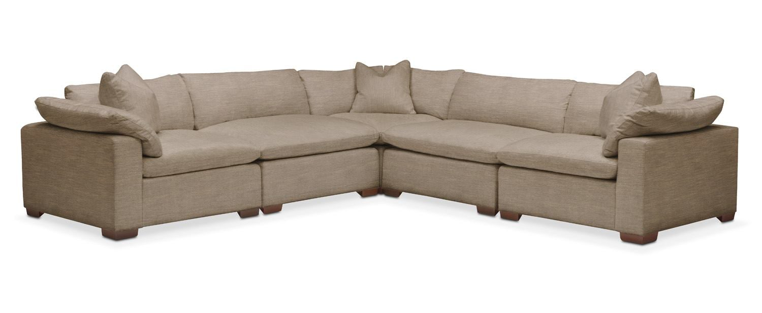 Plush 5 Pc. Sectional- in Statley L Mondo  sc 1 st  Value City Furniture : red leather sectional value city - Sectionals, Sofas & Couches