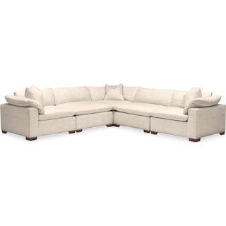 Plush 5 Pc. Sectional- in Curious Pearl