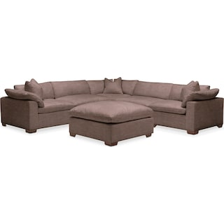 Plush 6 Pc. Sectional- in Oakley III Java