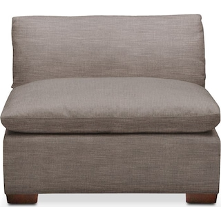 Plush Armless Chair- in Oakley III Granite