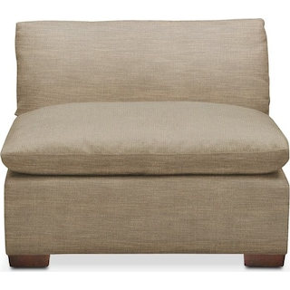 Plush Armless Chair- in Milford II Toast